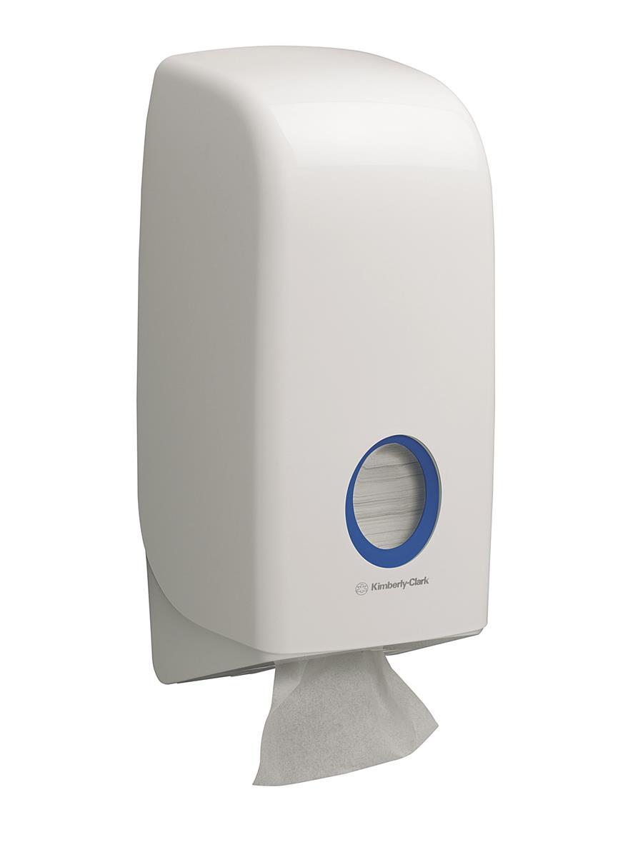 Kimberly-Clark Aquarius Bulk Pack Toilet Tissue Dispenser W169xD123xH338mm White Ref 6946