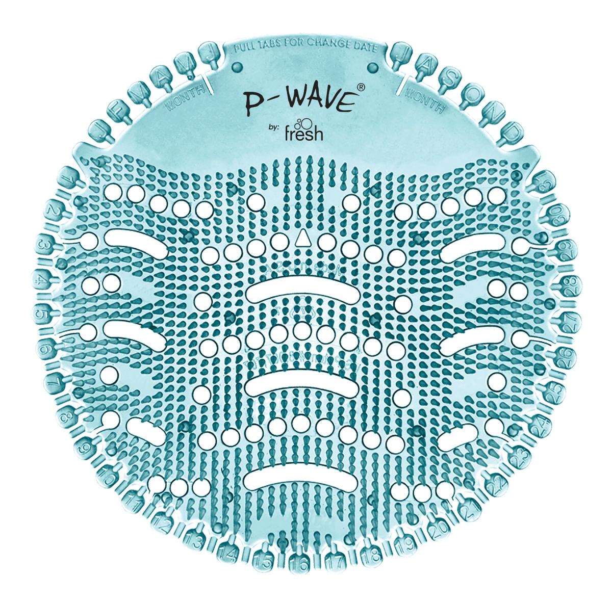 P-Wave Urinal Screens Ocean Mist Ref WZDS60OM [Pack 10]