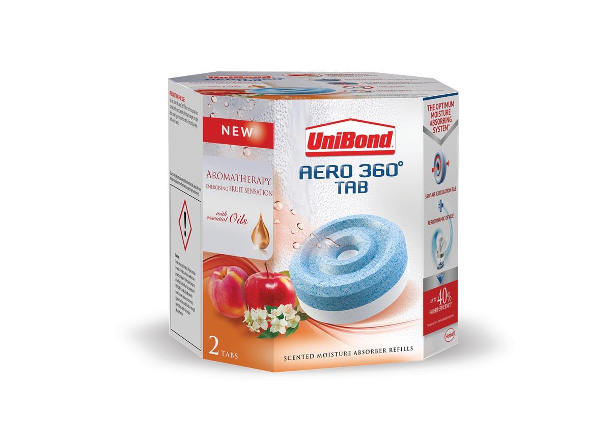 Image for UniBond Aero 360 Moisture Absorber Refill Fruit Sense Ref 2091538 [Pack 2]