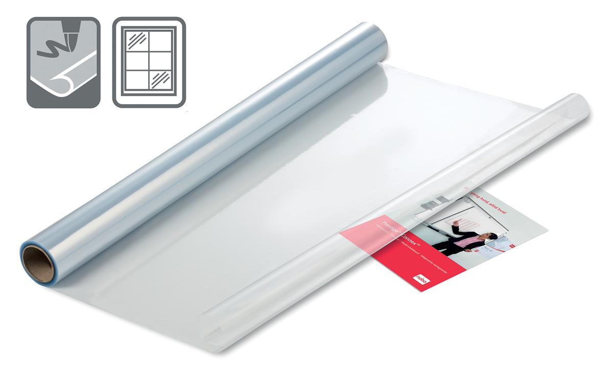 Image for Nobo Instant Film Whiteboard Reusable A4 Clear Ref 1905158 [Roll 25 Sheets]