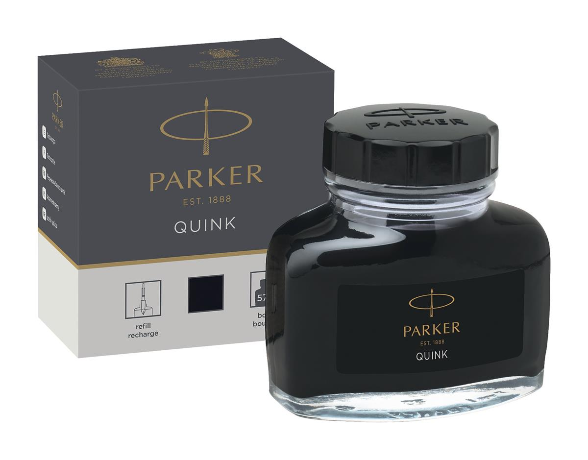 Image for Parker Quink Bottled Ink for Fountain Pens 57ml Black Ref 1950375