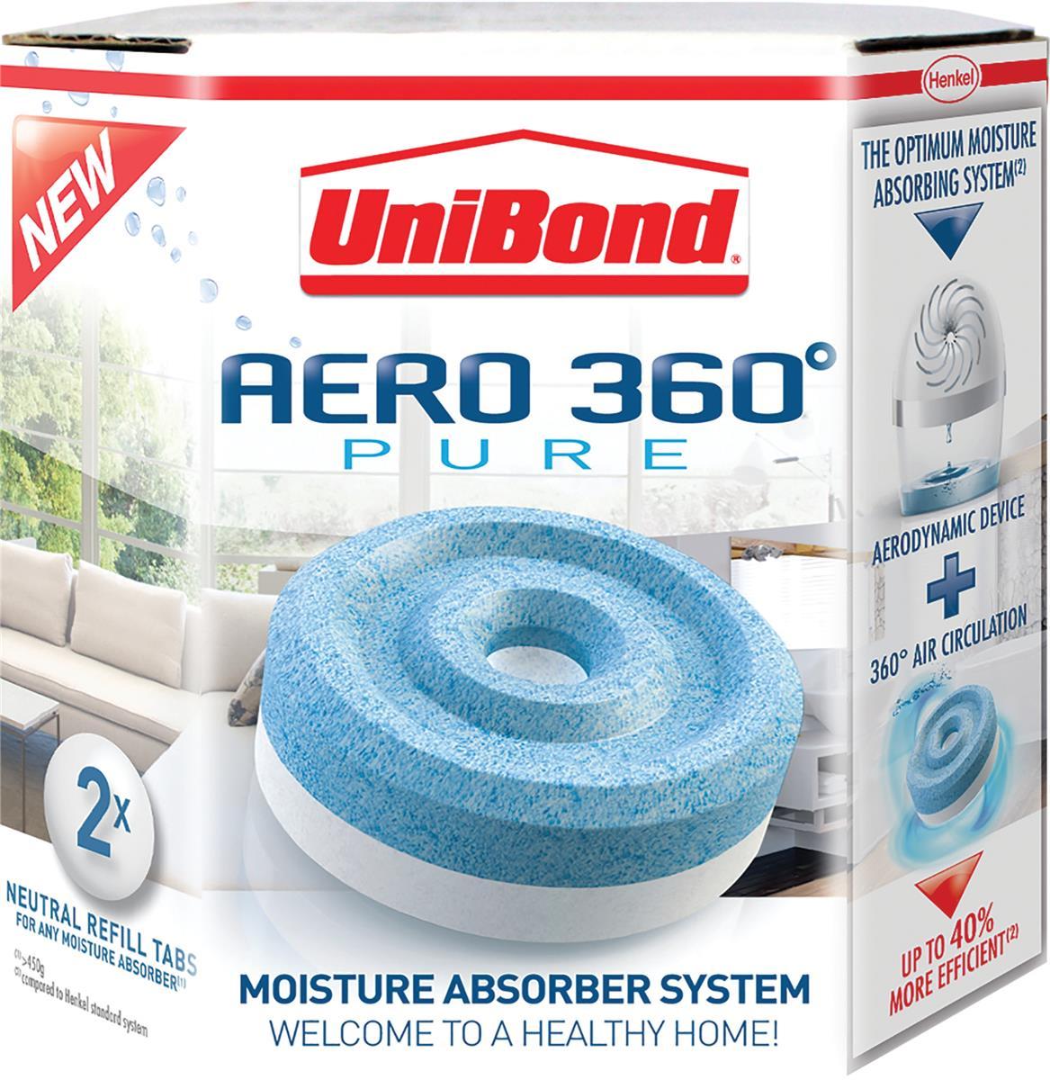 Image for UniBond Aero 360 Moisture Absorber Refill Pure Ref 2106199 [Pack 4]
