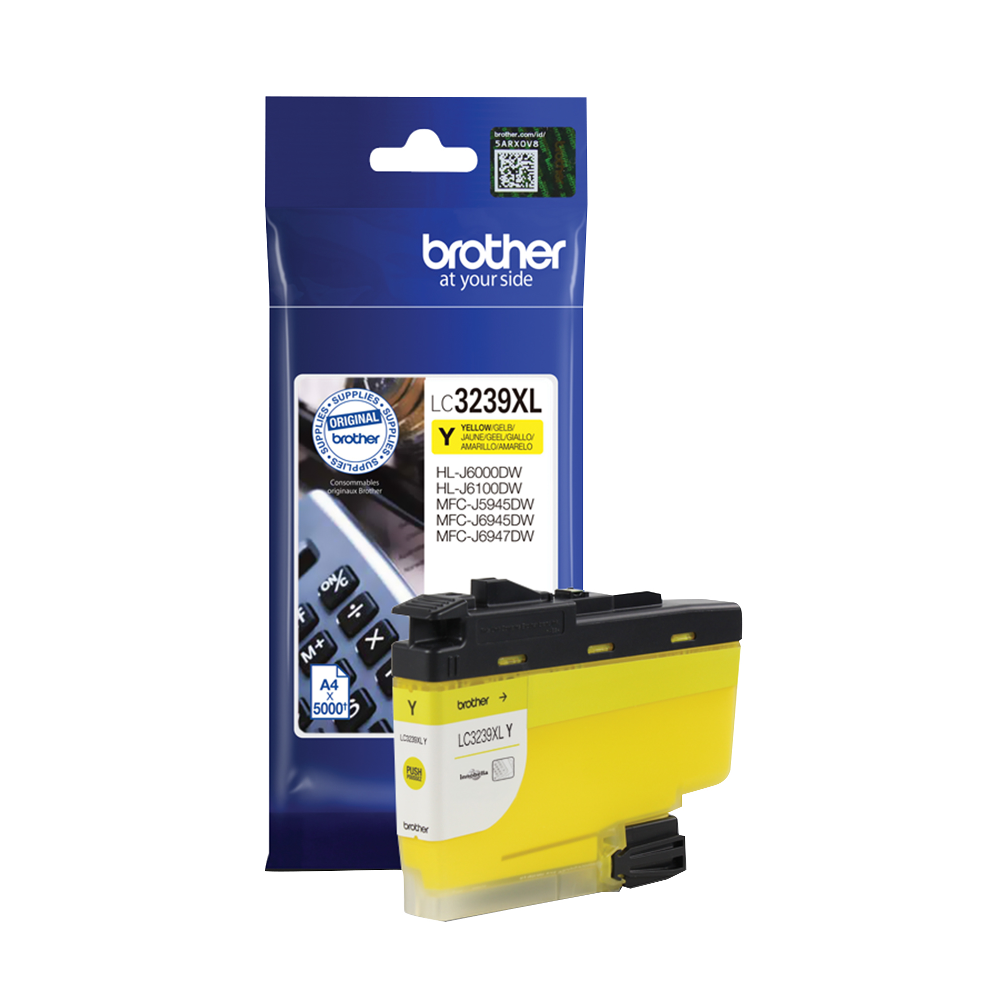 Brother LC3239XLY Ink Cartridge High Yield Page Life 5000pp Yellow Ref LC3239XLY