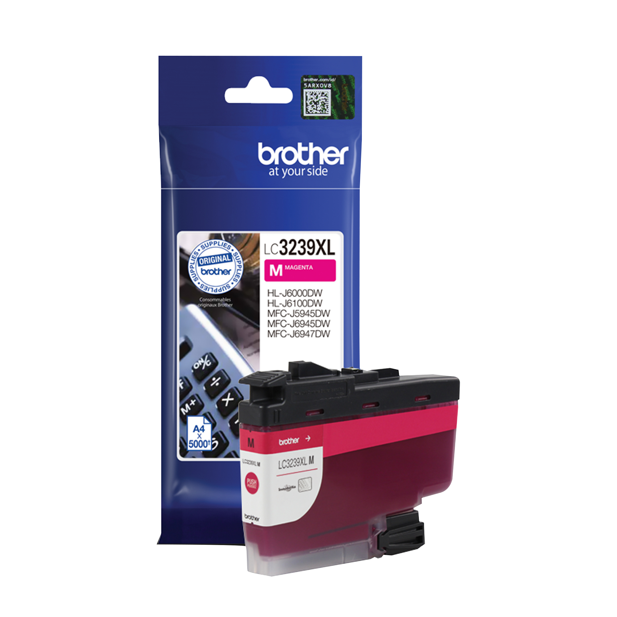 Brother LC3239XLM Ink Cartridge High Yield Page Life 5000pp Magenta Ref LC3239XLM