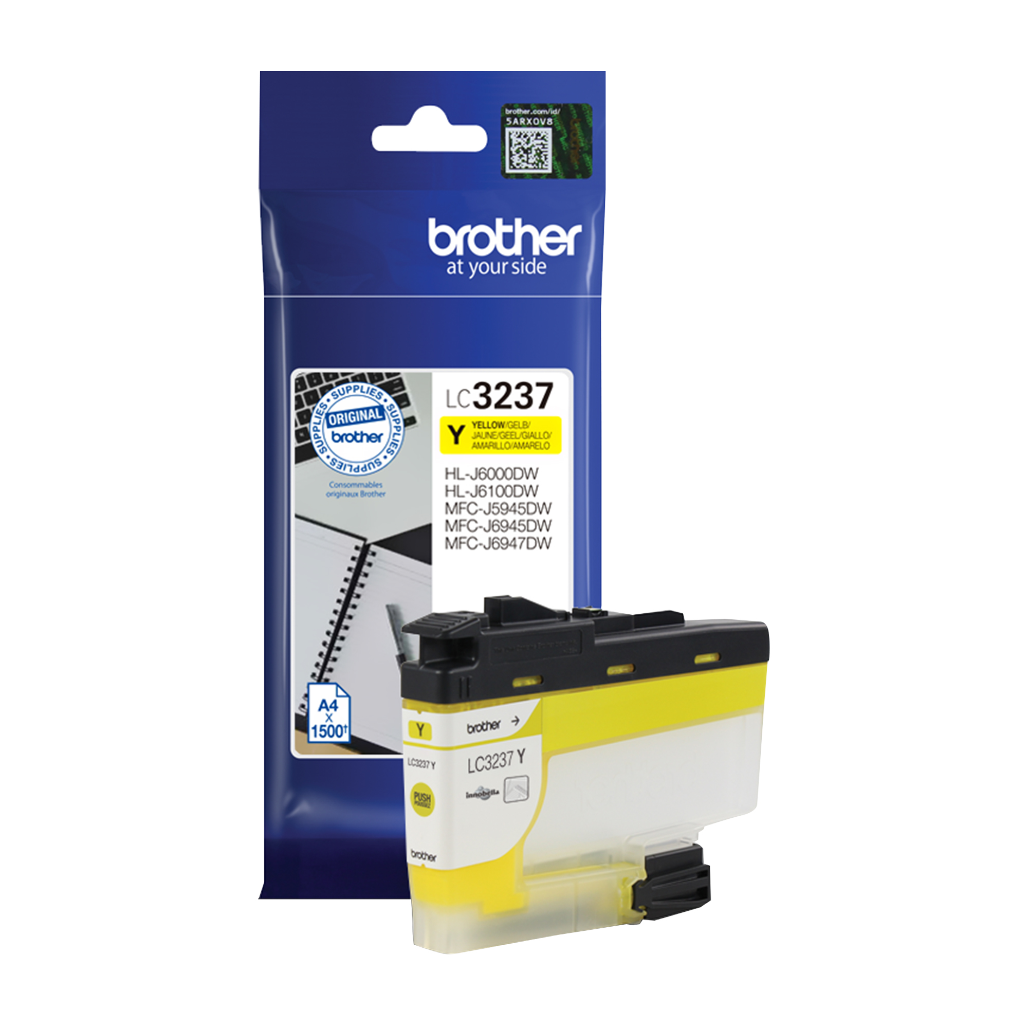 Brother LC3237Y Ink Cartridge Page Life 1500pp Yellow Ref LC3237Y