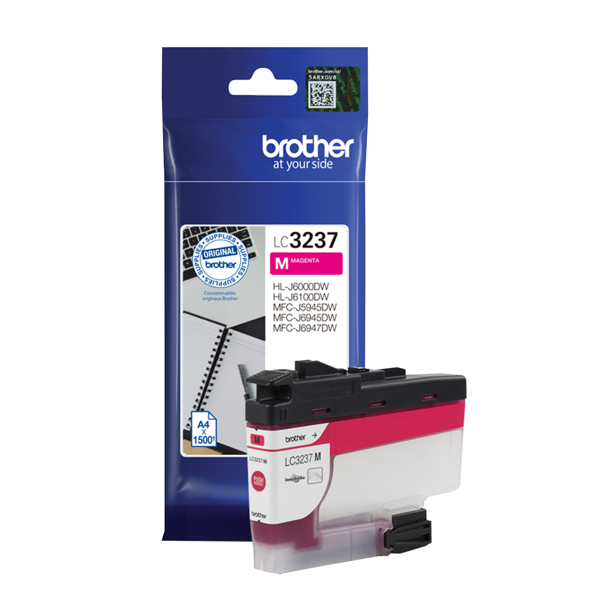 Brother LC3237M Ink Cartridge Page Life 1500pp Magenta Ref LC3237M
