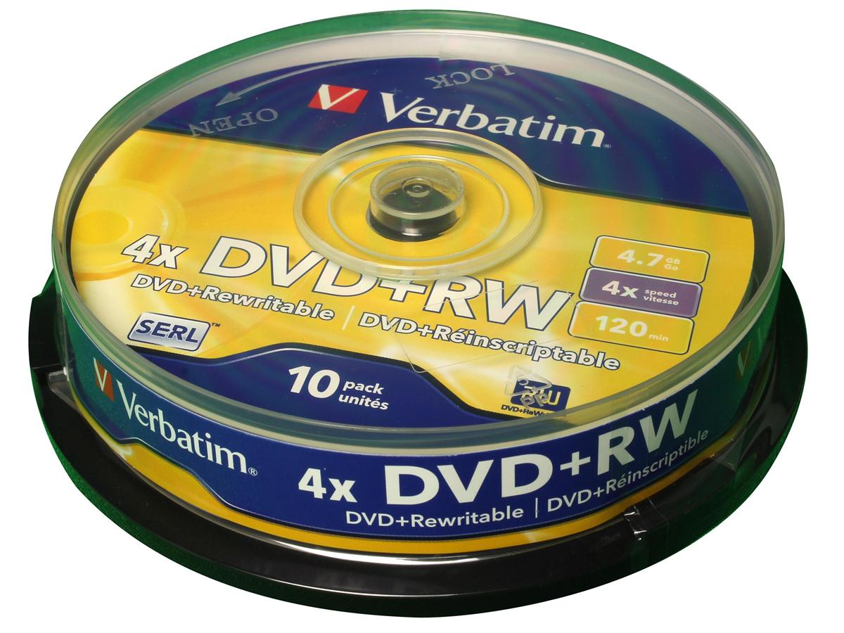 Image for Verbatim DVD+RW Spindle Ref 43488 [Pack 10]