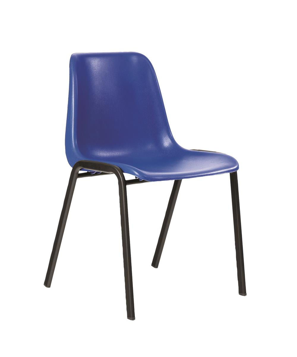 Image for Trexus Visitor Chair Stackable Pre-assembled Polypropylene Blue