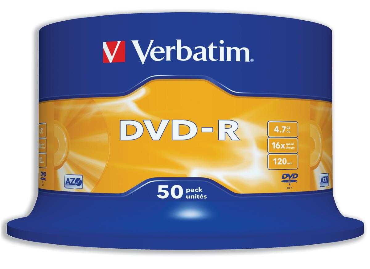 Image for Verbatim DVD-R 4.7GB 16X Spindle Ref 43548 [Pack 50]
