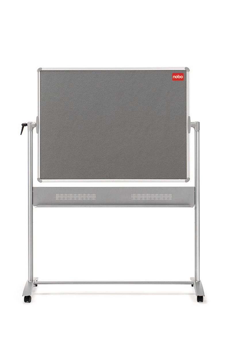 Nobo Mobile Combination Board Magnetic Steel and Grey Felt Ref 1901043