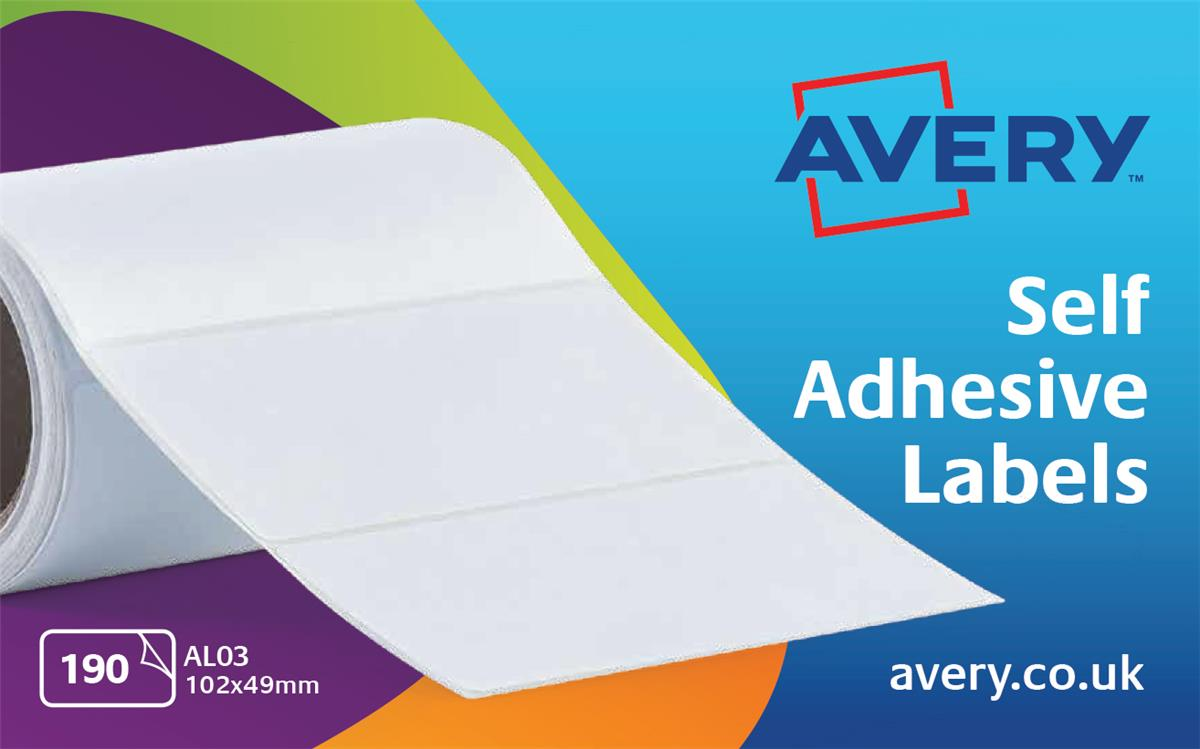 Image for Avery Address Labels Roll 102x49mm Ref AL03 [190 Labels]