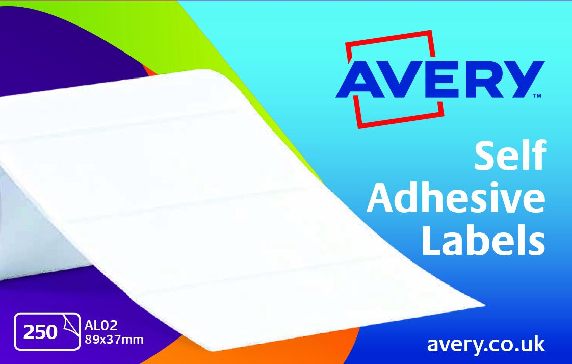 Image for Avery Address Labels Roll 89x37mm Ref AL02 [250 Labels]
