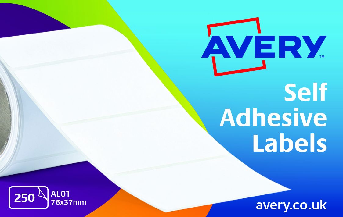 Image for Avery Address Labels Roll 76x37mm Ref AL01 [250 Labels]