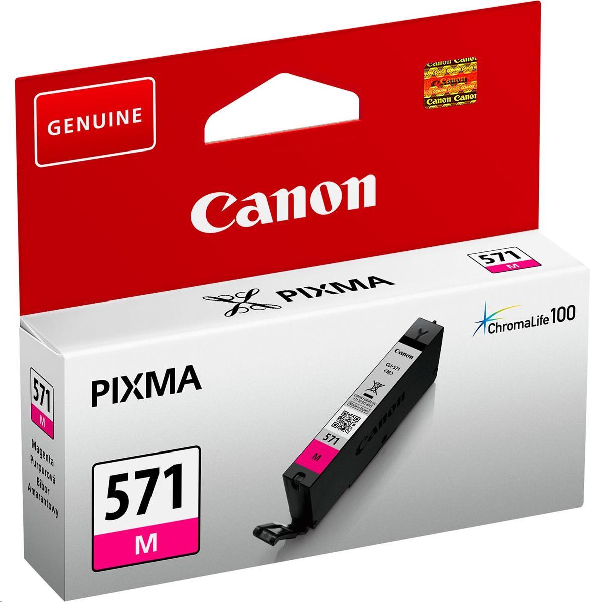Canon CLI-571 InkJet Cartridge Page Life 182pp 7ml Magenta Ref 0387C001