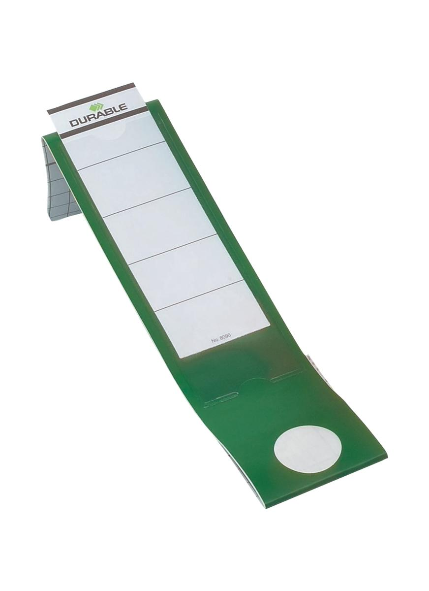 Image for Durable Ordofix Spine Labels Self-adhesive PVC for Lever Arch File Green Ref 8090/05 [Pack 10]