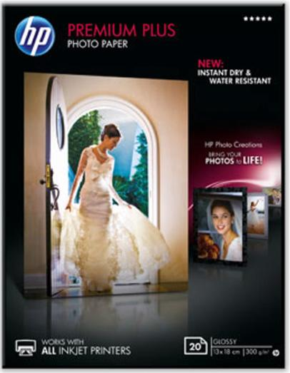Image for HP Premium Plus 13x18cm Glossy Snapshot Photo Paper 20 Sheets Ref CR676A 3 to 5 Day Leadtime