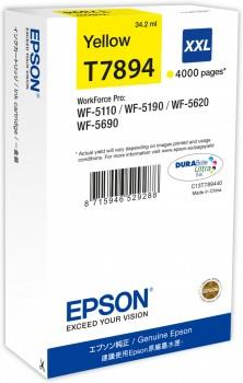 Epson T7894 XXL Yellow Ink Cartridge 65.1 ml for WorkForce Pro W Ref C13T789440 3 to 5 Day Leadtime