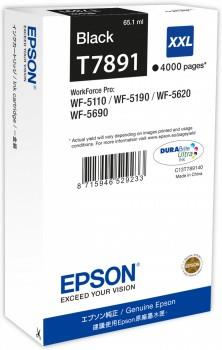 Epson T7891 XXL Black Ink Cartridge 65.1 ml for WorkForce Pro Ref C13T789140 3 to 5 Day Leadtime