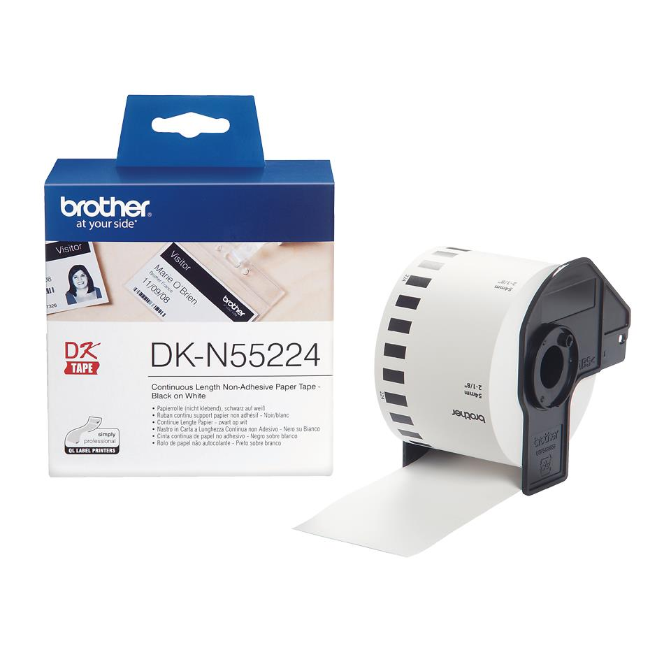 Image for Brother DK-N55224 54mmx30.5m Continuous Non-Adhe Paper Lab Tape Ref DKN55224