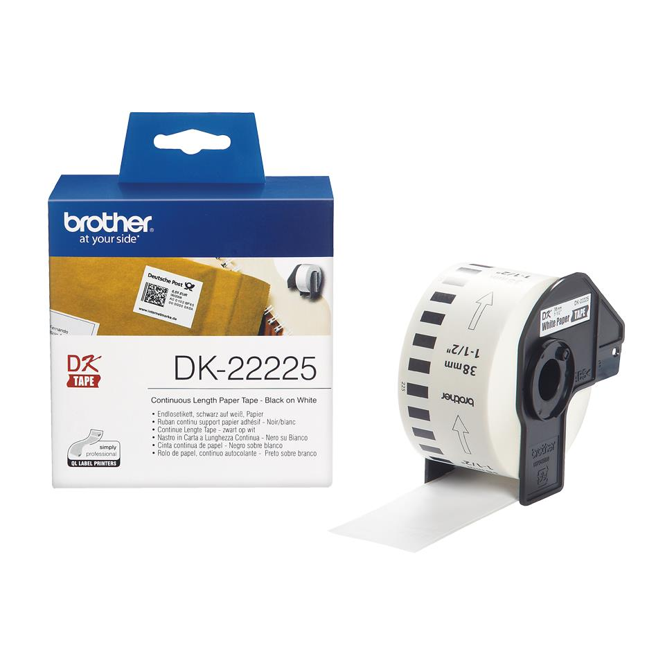 Image for Brother DK-22225 38mmx30.48m Continuous Paper Labelling Tape Ref DK22225 3 to 5 Day Leadtime