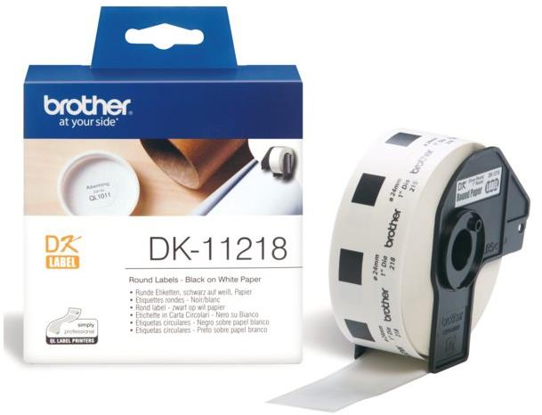 Brother P-Touch DK-11218 24mmx24mm Round Labels 1000 Labels Ref DK11218 3 to 5 Day Leadtime