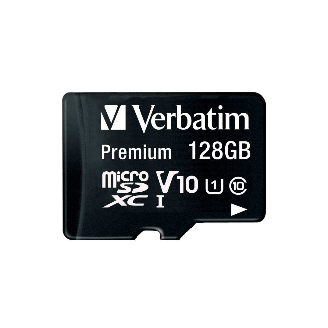 Verbatim Micro SDXC Card Including Adapter 128GB Black Ref 44085