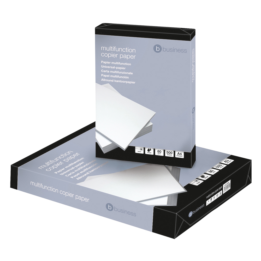 Business Copier Paper Multifunctional Ream-Wrapped 80gsm A4 White [500 Sheets]