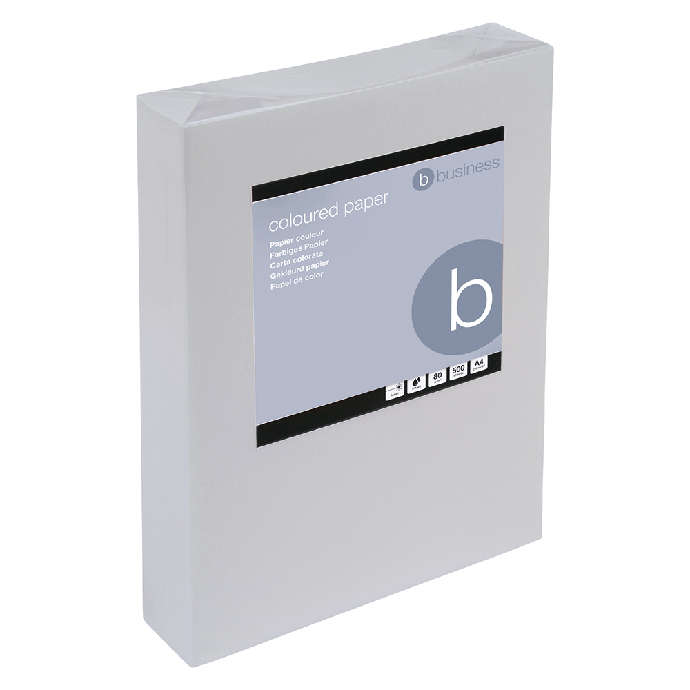 Business Coloured Copier Paper Multifunctional Ream-Wrapped 80gsm A4 Medium Grey [500 Sheets]