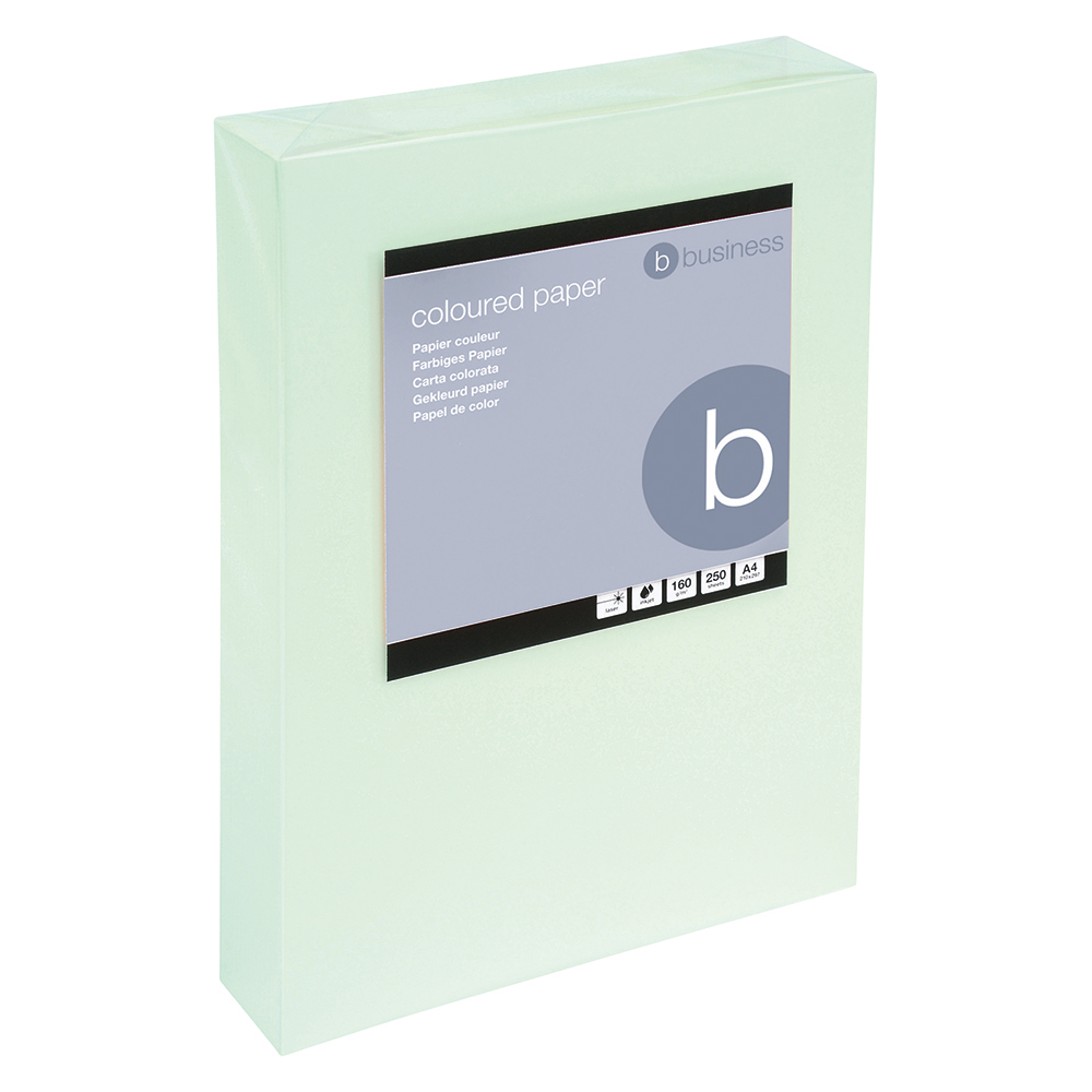 Business Coloured Card Multifunctional 160gsm A4 Light Green [250 Sheets]