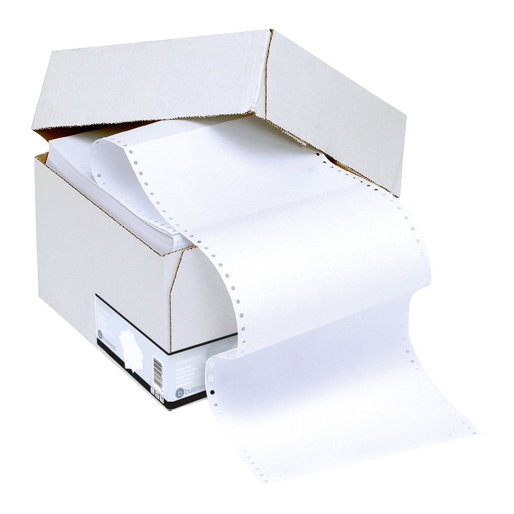 Business Listing Paper 1-Part Microperforated 70gsm A4 Plain [2000 Sheets]