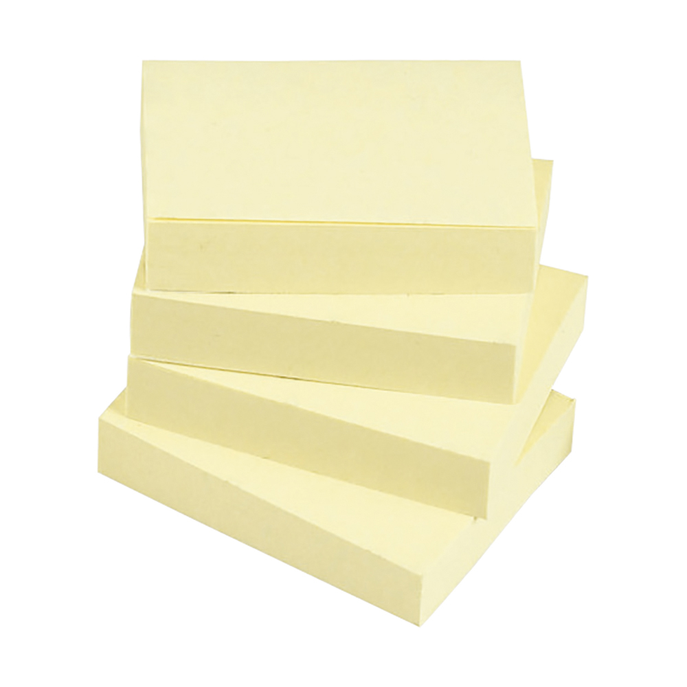 Business Re-Move Notes Repositionable Pad of 100 Sheets 38x51mm Yellow [Pack 12]