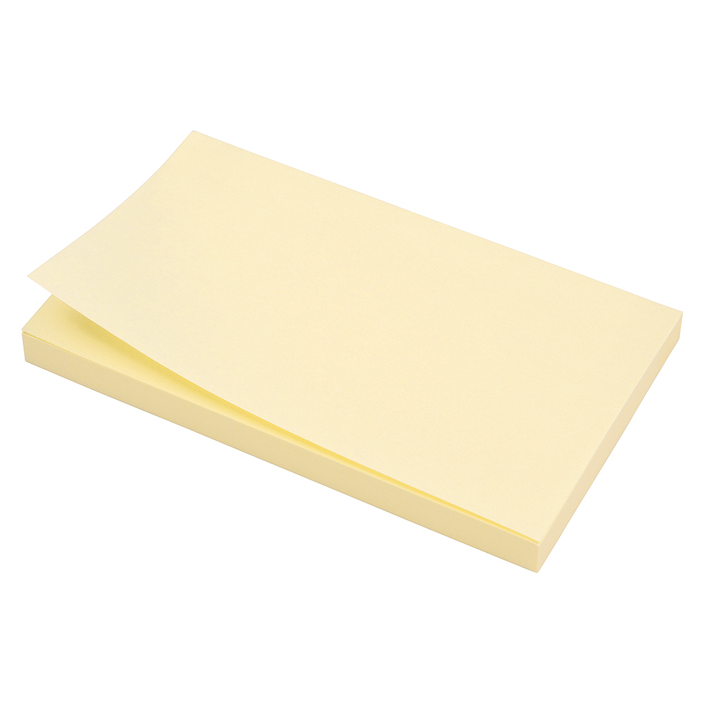 Business Extra Sticky Re-Move Notes Pad of 90 Sheets 76x127mm Yellow [Pack 12]