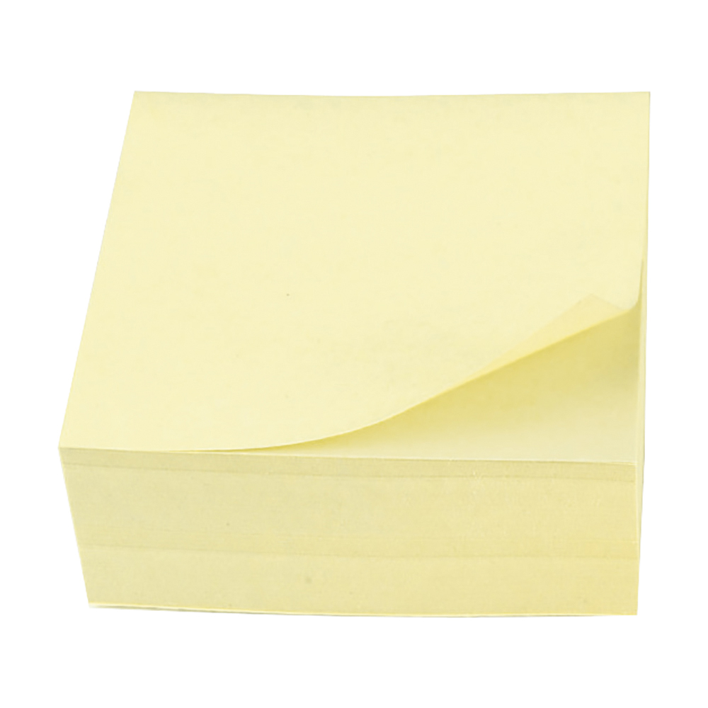 Business Re-Move Notes Cube Pad of 400 Sheets 76x76mm Yellow