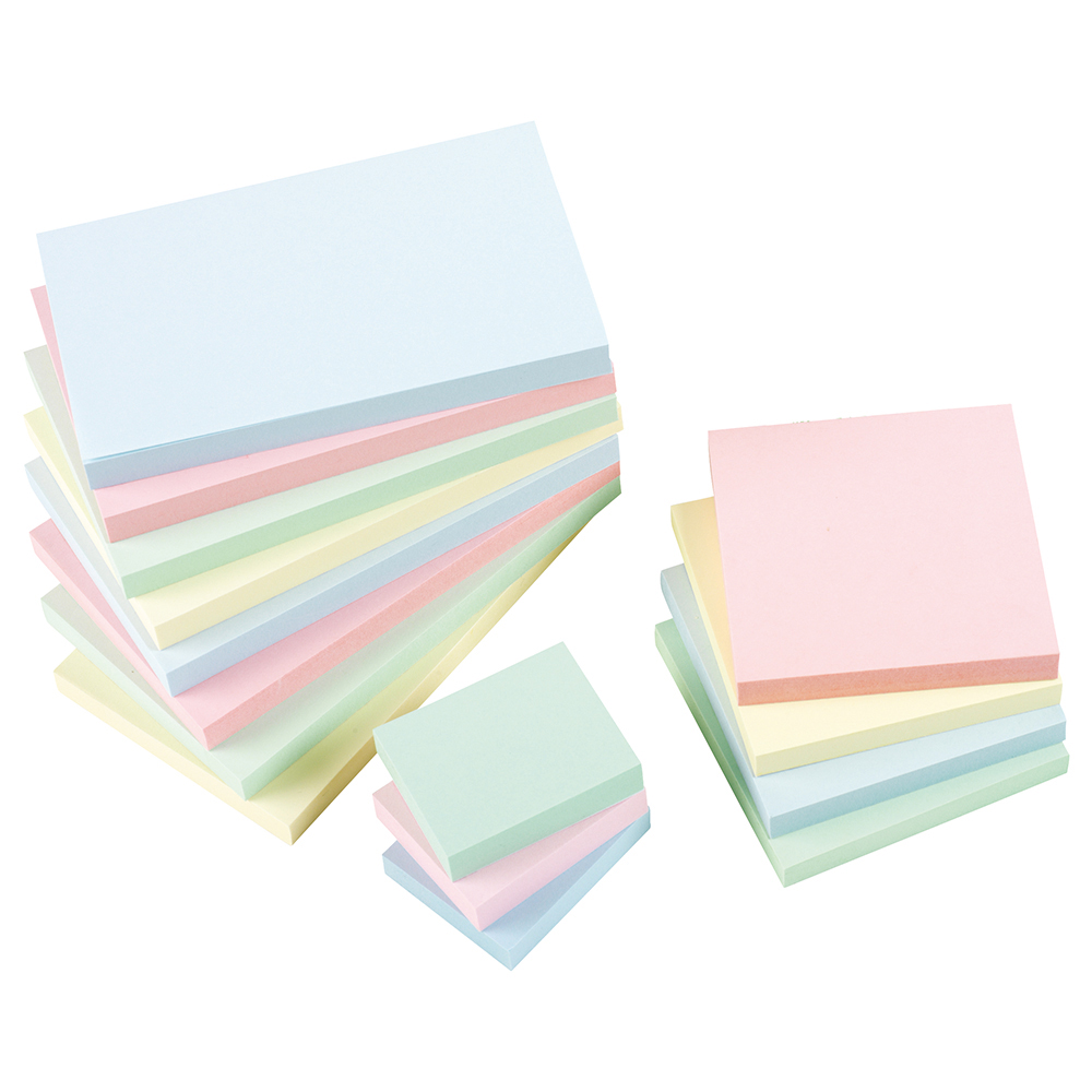 Business Eco Repositionable Notes 76x76mm Re-Move Pastel [Pack 12]