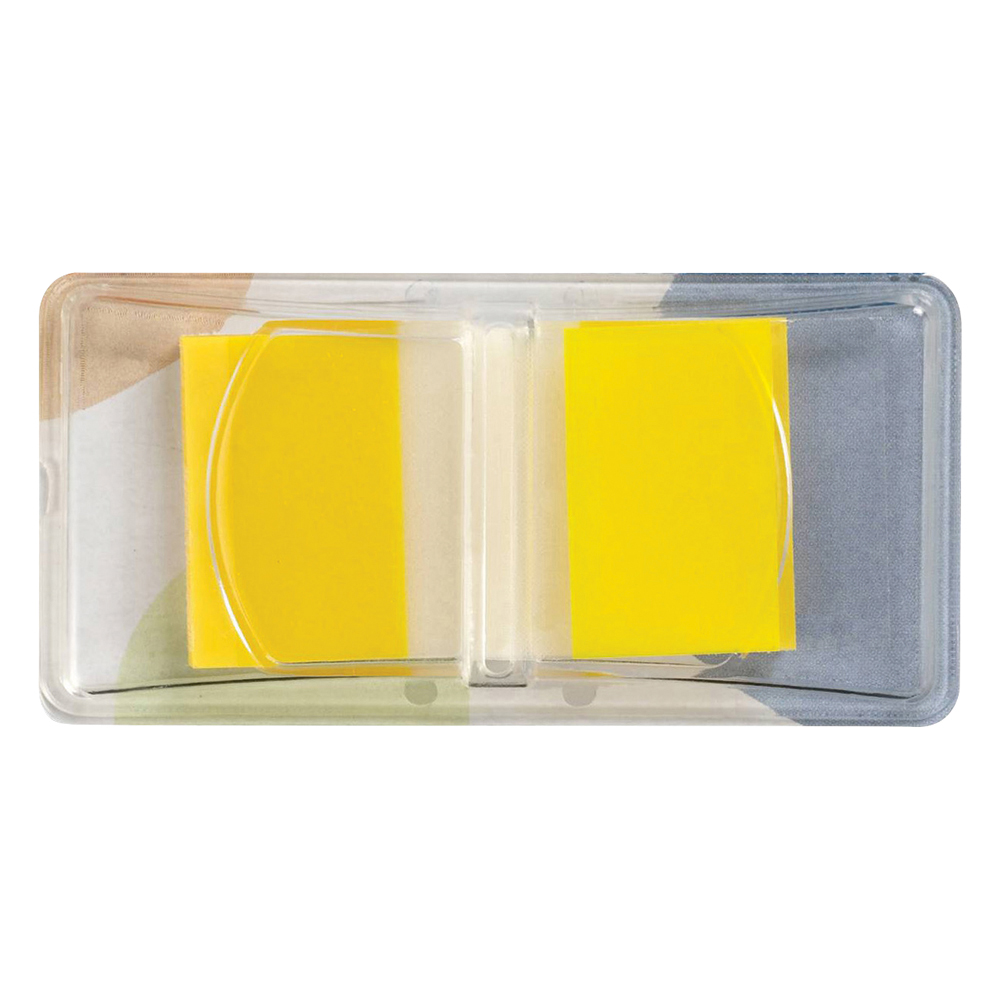 Business Standard Index Flags 50 Sheets per Pad 25x45mm Yellow [Pack 5]