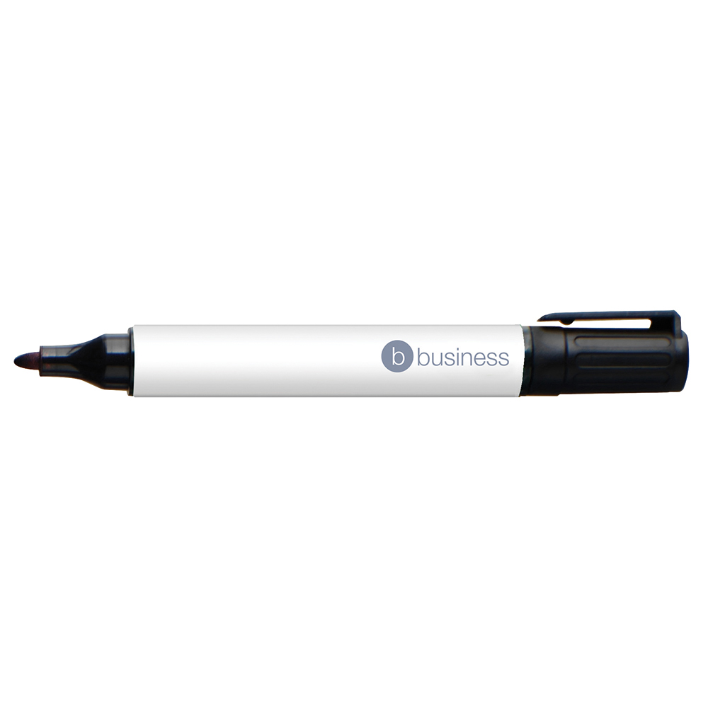 Business Eco Permanent Marker Bullet Tip 2-5mm Line Black [Pack 10]