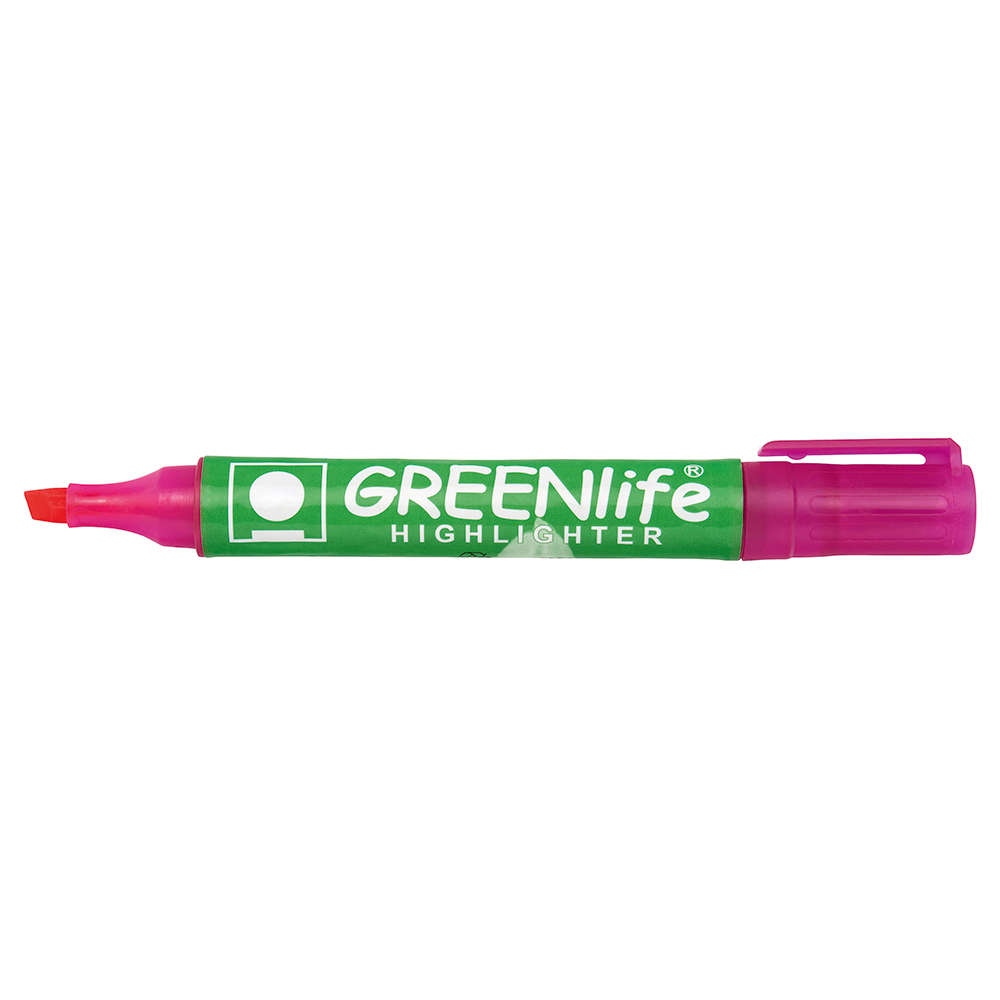 Business Eco Highlighter 1-5mm Line Pink [Pack 10]