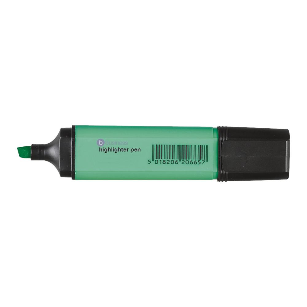 Business Highlighter Chisel Tip 1-5mm Line Green [Pack 12]