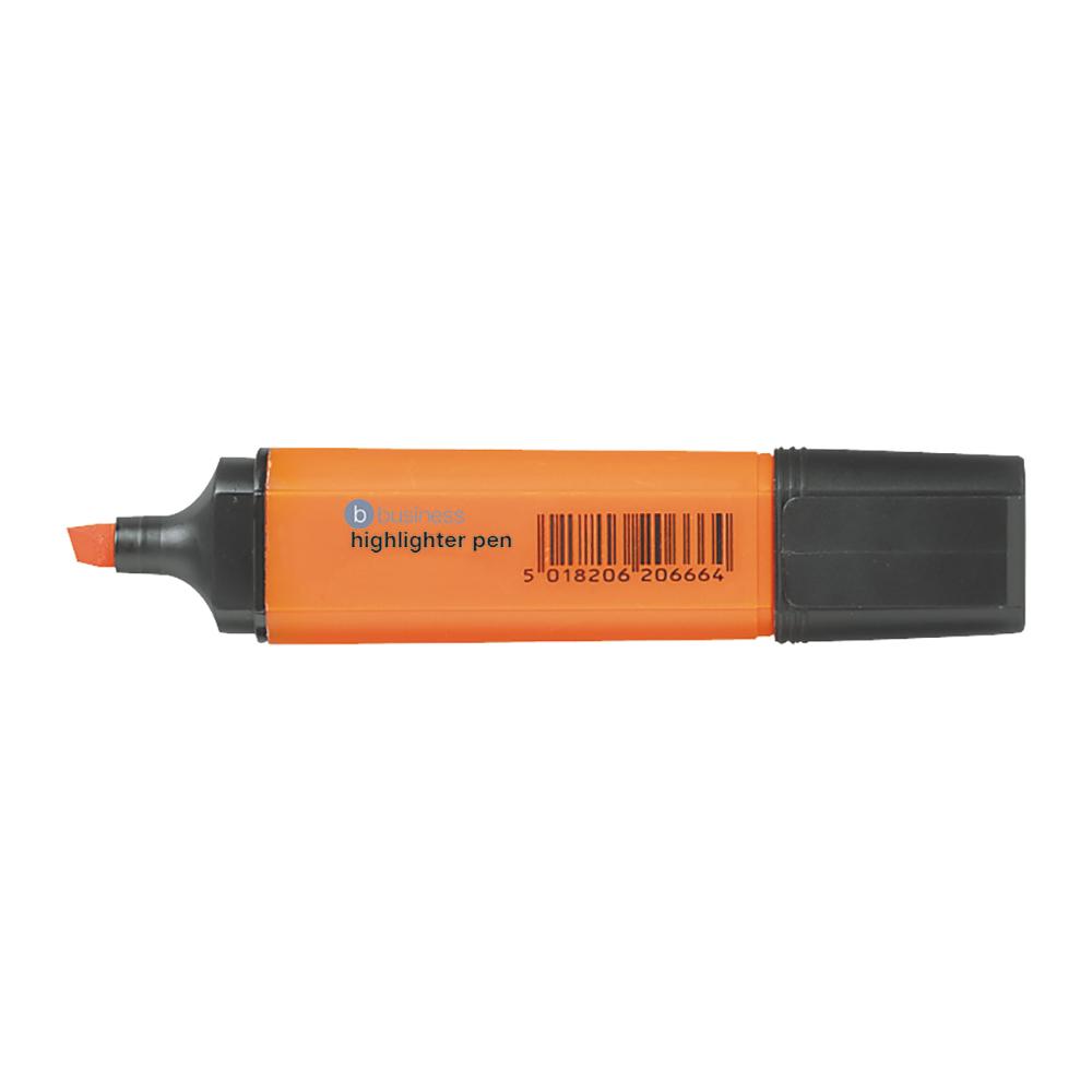 Business Highlighter Chisel Tip 1-5mm Line Orange [Pack 12]