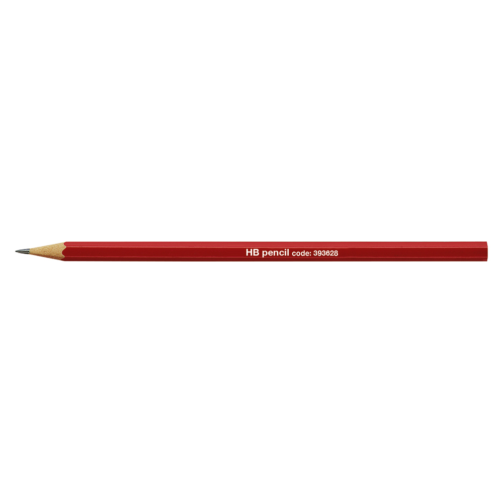 Business Pencil HB Red Barrel [Pack 12]