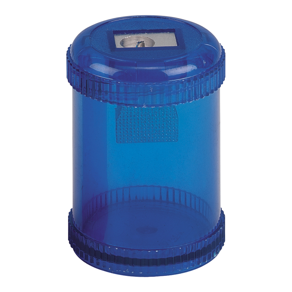 Business Pencil Sharpener Plastic Canister Max. Diameter 8mm Single Hole Coloured