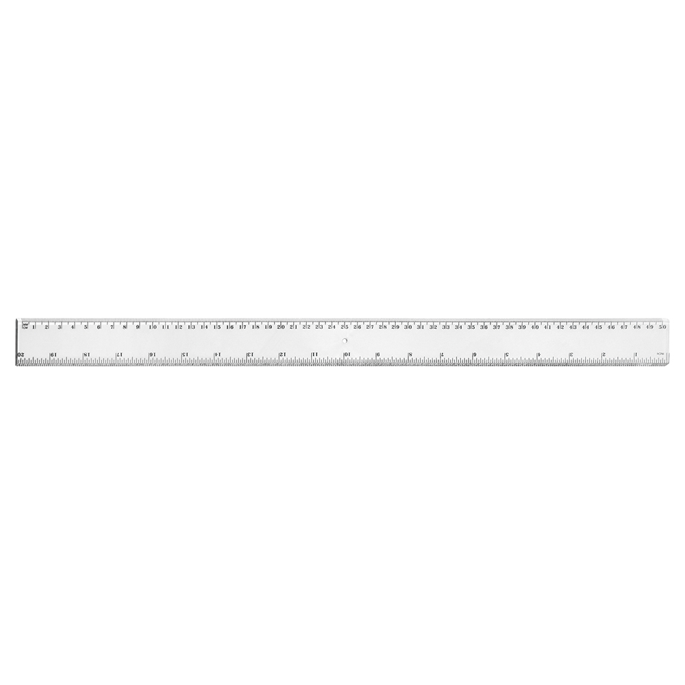 Business Ruler Plastic 500mm Clear [Pack 24]