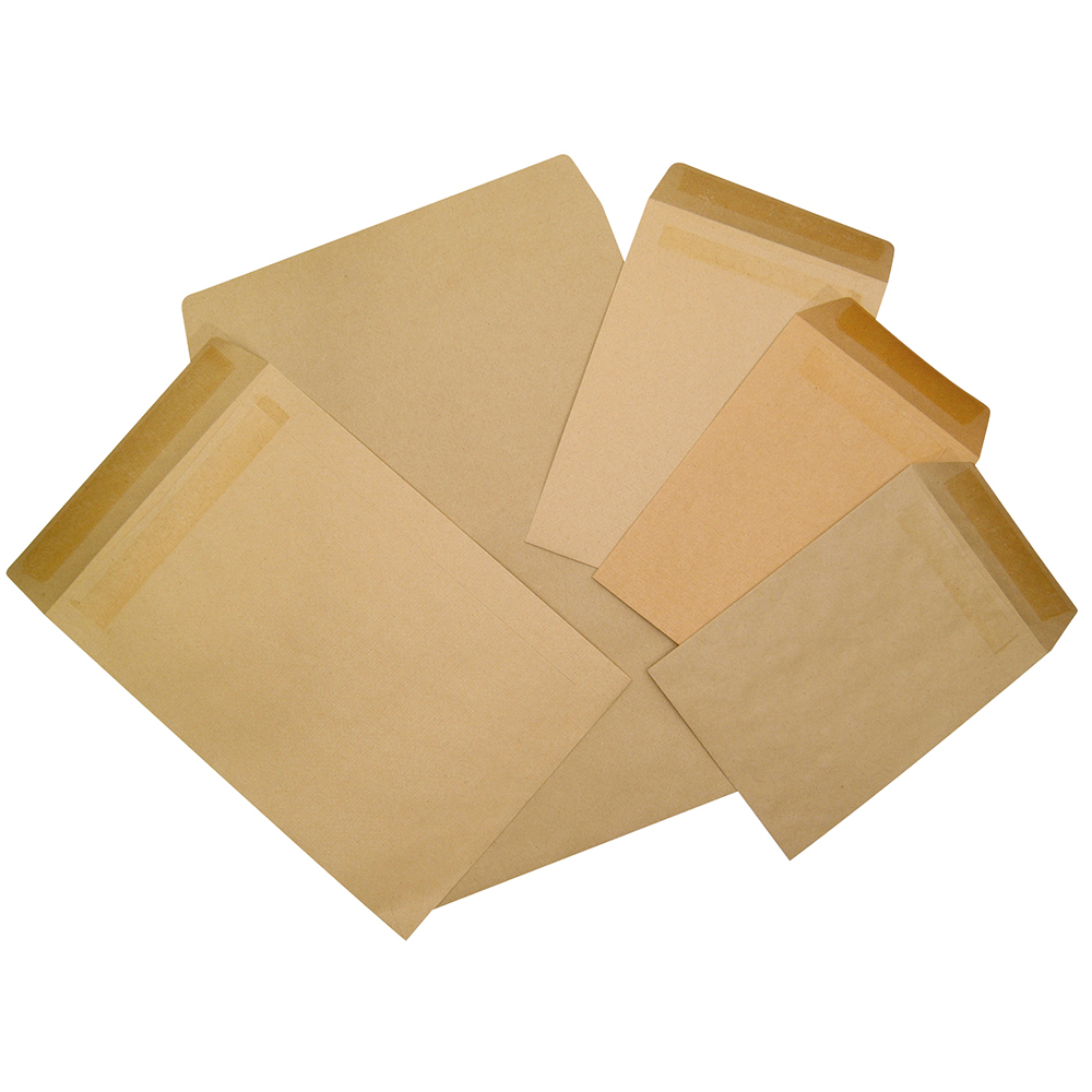 Image for Business Envelopes Heavyweight Pocket Self Seal 115gsm Manilla C5 [Pack 500]
