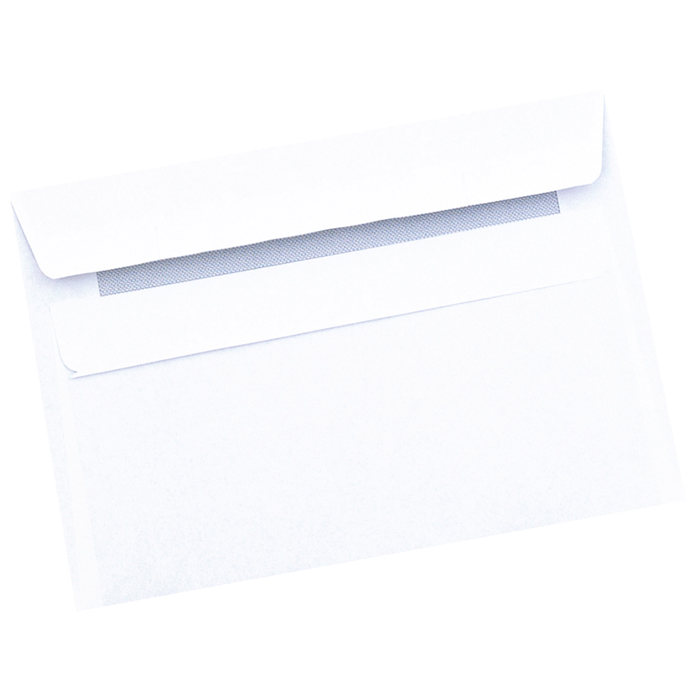 Image for Business Envelopes Recycled Wallet Self Seal 80gsm Retail Pack White C6 [Pack 50]