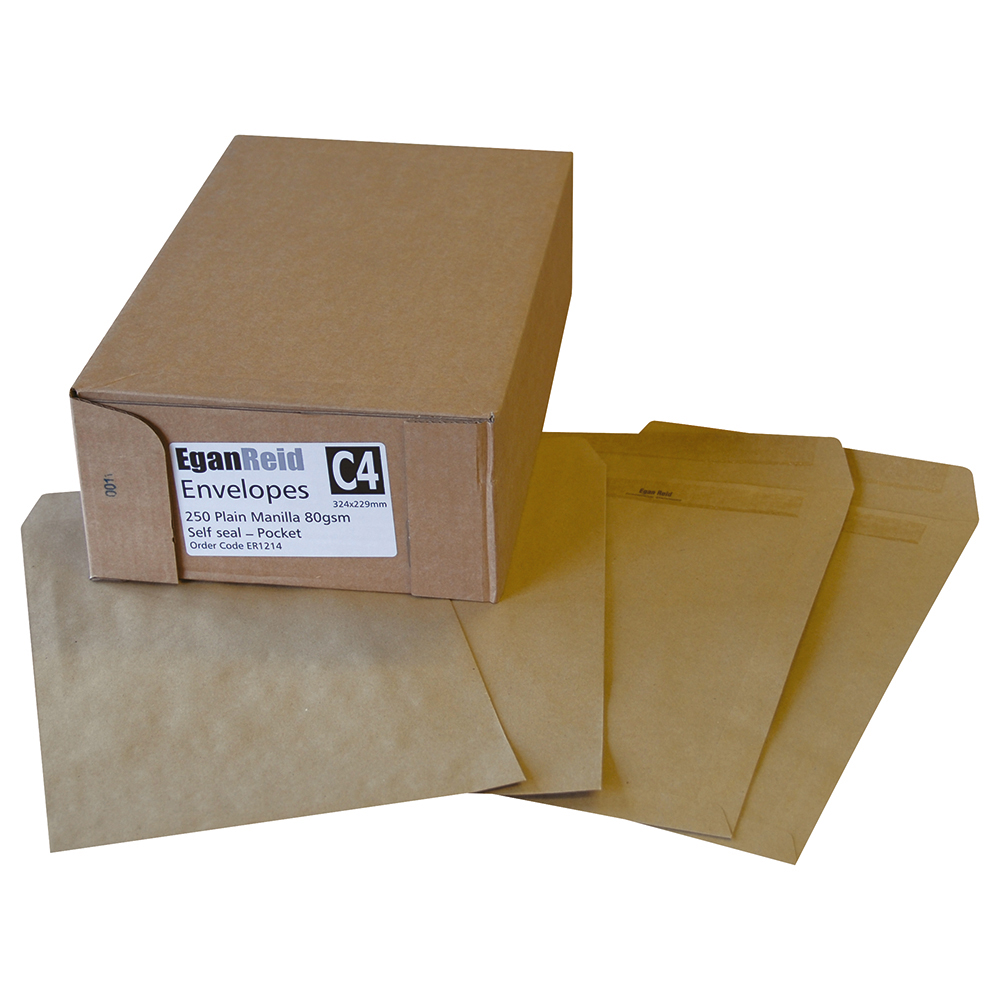 Image for Business Envelopes Recycled Lightweight Wallet Gummed 75gsm Manilla 89x152mm [Pack 2000]