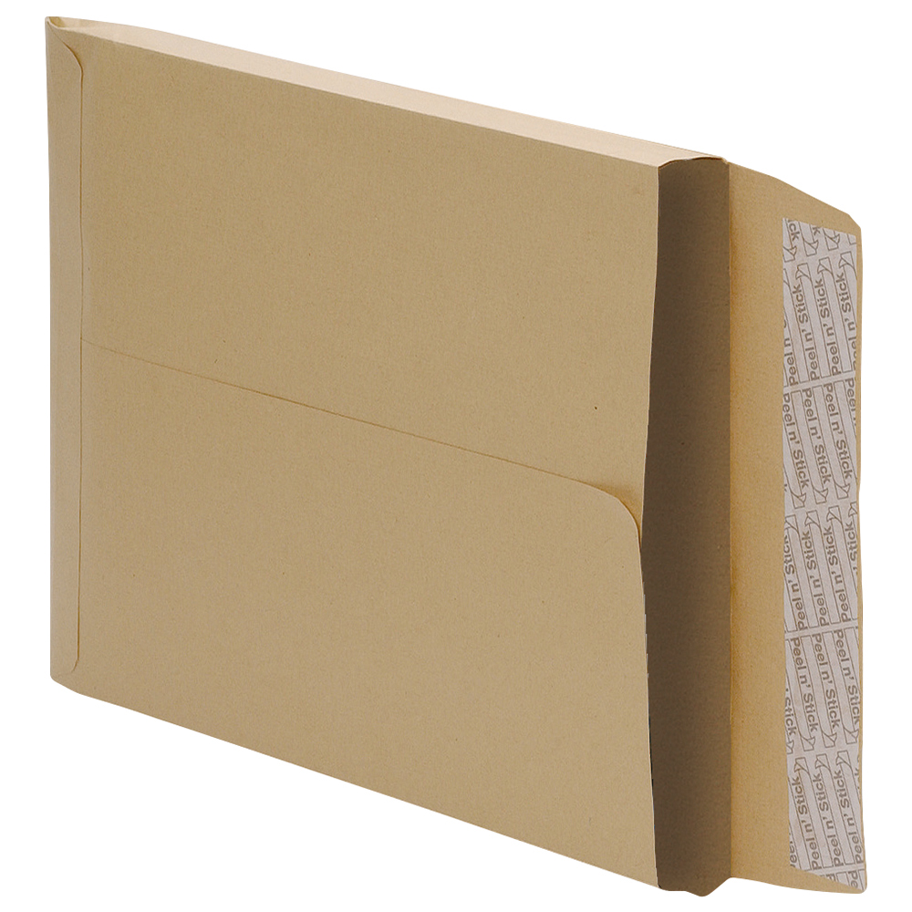 Image for Business Envelopes Gusset 25mm Peel and Seal 115gsm Manilla 381x254mm [Pack 125]