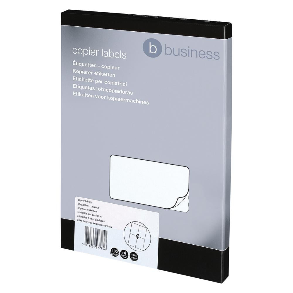 Business Multipurpose Labels Laser 4 per Sheet 105x148.5mm White [400 Labels]