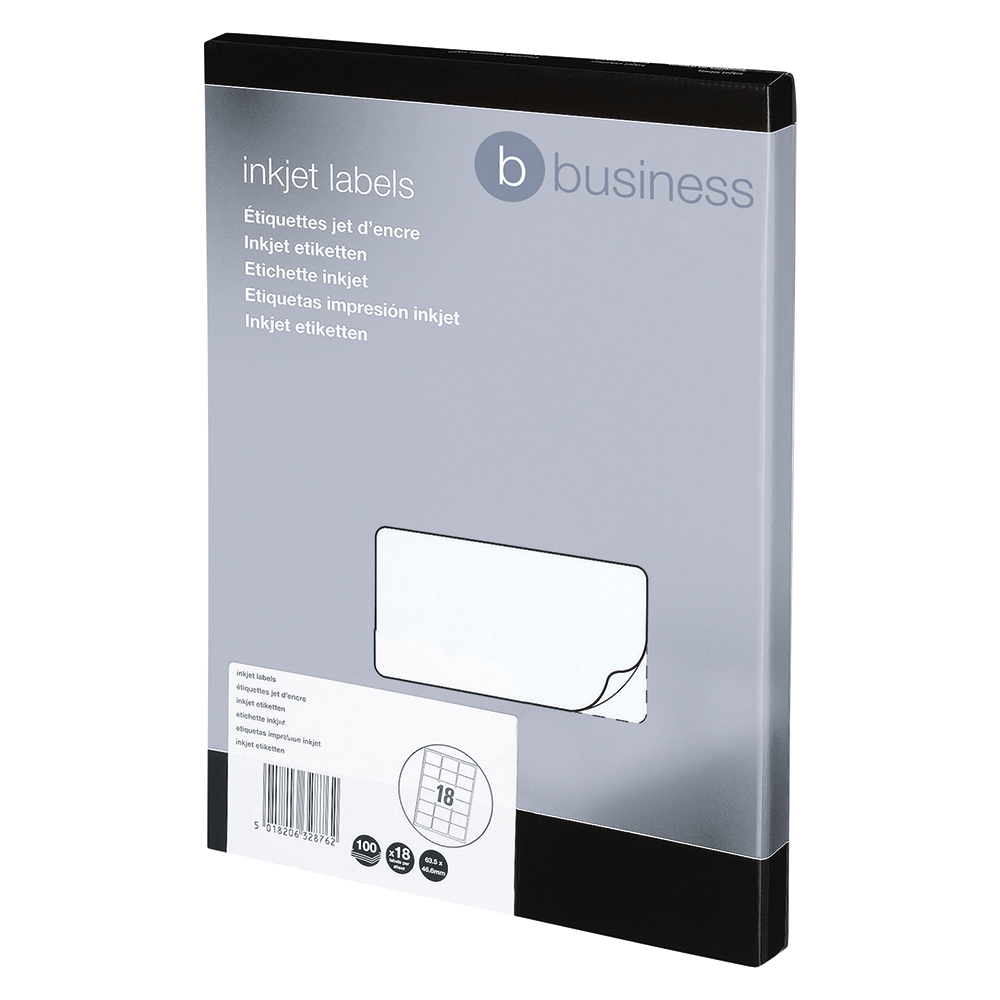 Image for Business Addressing Labels Inkjet 16 per Sheet 99.1x34mm White [1600 Labels]