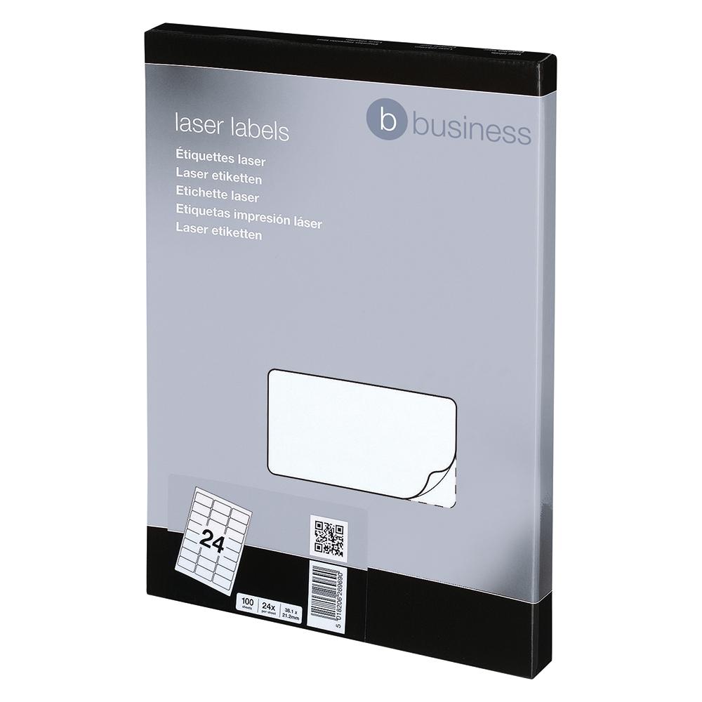 Image for Business Multipurpose Labels Laser 24 per Sheet 64x34mm White [2400 Labels]