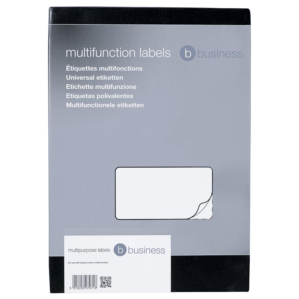 Image for Business Multipurpose Labels Laser Copier Inkjet 10 per Sheet 99x57mm White 1000 Labels [Pack 100]